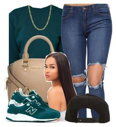 """""""Untitled #356"""" by princess-miyah ❤ liked on Polyvore featuring ASOS, Fremada, Michael Kors, Roark and New Balance"""