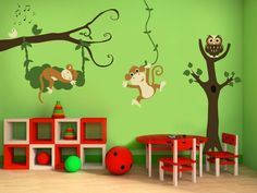Monkey Song Vinyl Wall Decals