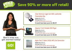 """WOW!! WOW!! DID YOU SEE OUR """"WOW""""AUCTION ACTION ?? SAVE 90% OR MORE OFF RETAIL!!!! IMAGINE Winning Brand New Brand Named Items as LOW as 10% of retail Price!! AMAZING AND UNBELIEVABLE!! See Some R..."""