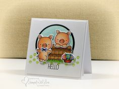 Playing with some of my new MFT stamps - aren't these little piggies just the cutest ever?  This card will be added to my