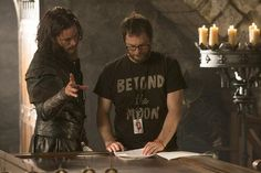 "(L to R) TRAVIS FIMMEL and director DUNCAN JONES on the set of Legendary Pictures and Universal Pictures' ""Warcraft,"" an epic adventure of world-colliding conflict based on Blizzard Entertainment's global phenomenon."