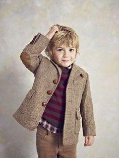 Pretty stylish little boy.  Future professor, perhaps.