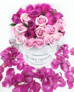 Pink and Purple goes together like  #floratheory#flowerbox#roses#luxury#beauty#forher#newyork