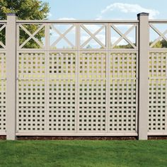 Yardistry Cedar Lattice X Privacy Trellis