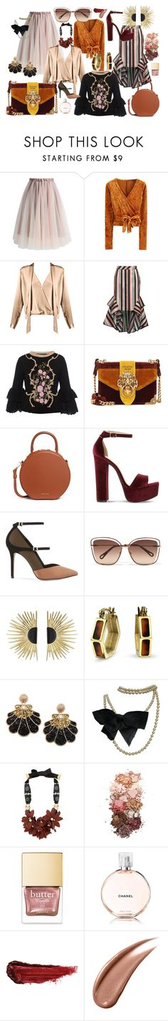 """Vintage Dreams"" by loeitt on Polyvore featuring Chicwish, WithChic, Theo, Alberta Ferretti, Prada, Mansur Gavriel, Steve Madden, Reiss, Chloé and Aurélie Bidermann"