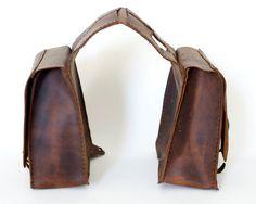 Leather Saddlebags.