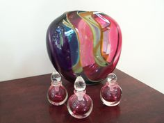 Guido Van Besouw: Blown glass vessels and perfume vessels. Artisan Gallery: 344 Florida Road, Durban, South Africa. Tel: 031 312 4364