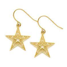 Mia Diamonds 14k Yellow Gold Satin and Polished Scalloped Edge Hoop Earrings