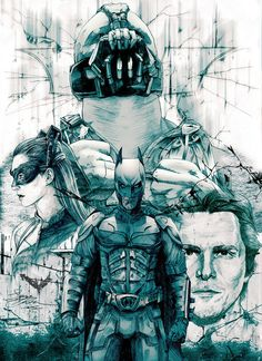 TDKR Characters Sketch