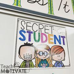 """Classroom Management Technique """"Secret Student"""". Love this simple & easy idea!"""