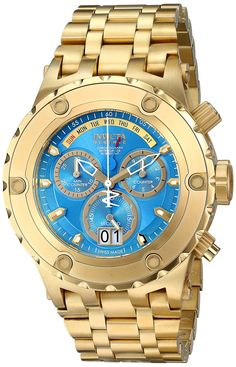 Gold watches : Invicta Men's 16884 Subaqua Analog Display Swiss Quartz Gold Watch