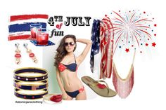"""""""Patriotic Fun"""" by atomic-jane ❤ liked on Polyvore featuring Charlotte Russe, Halcyon Days, IPANEMA, Alison Lou, redwhiteandblue and atomicjaneclothing"""