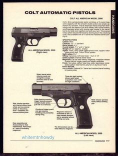 1994 COLT All American 2900 and 2000 Automatic Pistol PRINT AD Gun Advertising #Weatherby
