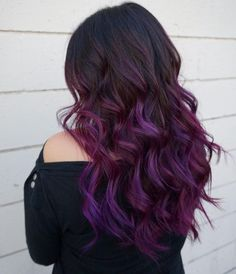 What exactly is Balayage Hair and why do we love it so much? As the name implies, Balayage is a French technique whose goal is to color the hair by adding very soft and. Balayage Hair Purple, Hair Color Purple, Ombre Hair, Purple Ombre, Balayage Color, Hair Colors, Purple Brown Hair, Balayage Hairstyle, Burgundy Hair