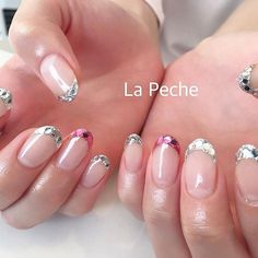Instagramのネイル画像を自動でピンする。 Funky Nail Art, Funky Nails, New Year's Nails, Hair And Nails, Mani Pedi, Manicure And Pedicure, Simple Nails, Wedding Nails, Nail Art Designs