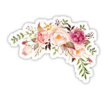 Romantic Watercolor Flower Bouquet Sticker