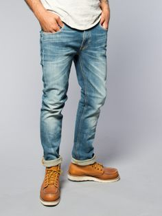 Thin Finn Organic Sang Bleu - Nudie Jeans Co Online Shop