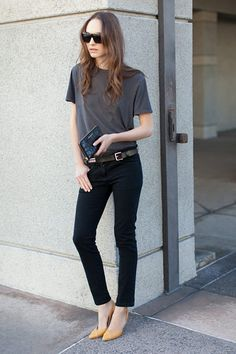 Emerson Fry is a clothing brand that basically sums up what I want my closet to be about: simple, effortless, chic…with a few Casual Outfits, Fashion Outfits, Womens Fashion, Casual Wear, Yellow Pumps, Lookbook, What To Wear, Style Me, Fashion Looks