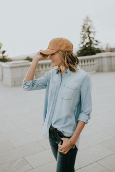 Monday Blues Denim Top | ROOLEE