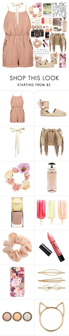 """2567. What's meant to be will always find a way."" by chocolatepumma ❤ liked on Polyvore featuring Topshop, Rebecca Minkoff, Diane Von Furstenberg, Prada, Barry M, Casetify, Cara, By Terry and Disney"