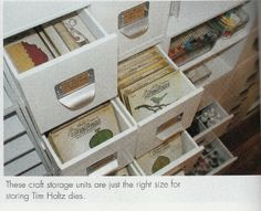 #papercraft #crafting supply #organization  storage unit - as seen in CPS Studios magazine