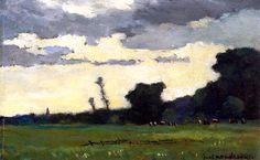 Dusk Piet Mondrian - circa 1890 ♥ Inspirations, Idées & Suggestions, JesuisauJardin.fr, Atelier de paysage Paris, Stéphane Vimond Créateur de jardins ♥
