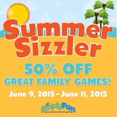 SimplyFun Summer Sale! - stock up now for Family Game Night and homeschool!