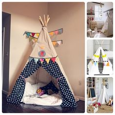 ¿Quién no soñó de pequeño con tener un teepee en su habitación infantil? Yo sí lo soñaba y os diré más aún, estoy segurísima de que más de uno de vosotros