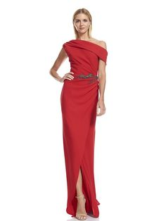 One Shoulder Red Dress 64c2b192a