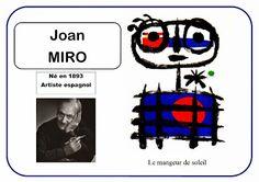 Joan Miro - Portrait d& - Art Lessons For Kids, Art Lessons Elementary, Art For Kids, Kandinsky, Miro Artist, Artist Art, Joan Miro Paintings, Famous Art Pieces, Artist Project