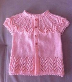 Embroidered Baby Vest Making Dress Design Patterns, Baby Dress Patterns, Baby Knitting Patterns, Dress Designs, Baby Pullover, Baby Cardigan, Crochet Baby Dress Pattern, Knit Fashion, Baby Sweaters