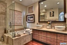 High style in this relaxing bathroom retreat