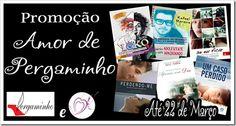 Sorteio no blog Amores e Livros, em parceria com a livraria Pergaminho! São 6 livros para dois ganhadores... Corre lá ;) http://www.amoreselivros.com.br/2015/03/promocao-amor-de-pergaminho.html