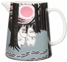 Children and adults alike fall in love with the sympathetic characters of Moomin Valley as created by the author Tove Jansson. The Arabia artist Tove Slotte-Elevant has designed the delightful Moomin objects in keeping with the original drawings. Moomin Shop, Moomin Mugs, Moomin Valley, Tove Jansson, Broste Copenhagen, Ceramic Pitcher, Ceramic Tableware, Plates And Bowls, Finland