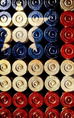 America the beautiful was bought and paid for with guns and ammunition. You don't like guns, or you don't thing Americans' should be armed, nobody is forcing you to live here remember? Shotgun Shell Crafts, Shotgun Shells, Shotgun Shell Art, Bullet Crafts, Minions, Bullet Art, Survival, Arts And Crafts, Diy Crafts