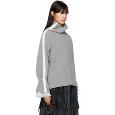 Sacai - Grey Sport Knit Pullover