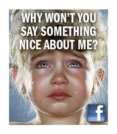 My fake facebook campaign I dreamed up one morning in the shower and comped up before work; pt. 1 (Crying Children nicked from Jill Greenberg's famous series - please don't be mad - it's only satire)