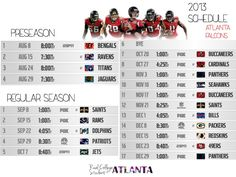 2013 Falcons Football Schedule