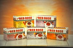 Davis | Decades of cuppas! Retro package for Red Rose Tea. #TBT Red Rose Tea, Breakfast Tea, Package Design, Best Brand, Over The Years, Red Roses, Packaging, Retro, Packaging Design