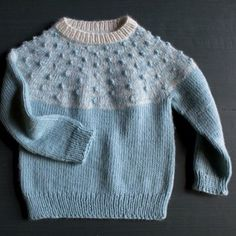 Laura's amazing Bobble Yoke Sweater for Babies + Kids is up on the Purl Bee today. Its traditional style and beautiful mixture of materials and textures makes it a modern-day heirloom-to-be! #purlbee #purlsoho