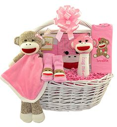 sock monkey pink baby shower party supplies 94431 pink sock