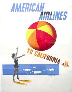 California - American Airlines, Edward McKnight Kauffer