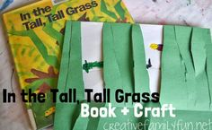 In the Tall, Tall Grass Book + Craft ~ Creative Family Fun  http://www.creativefamilyfun.net/2013/10/in-tall-tall-grass-book-craft.html?utm_source=feedburner&utm_medium=feed&utm_campaign=Feed%3A+MyCreativeFamily+%28My+Creative+Family%29
