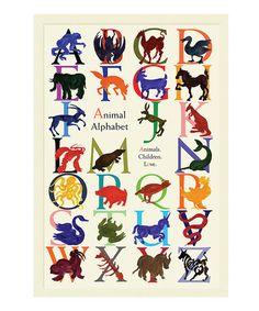 Loving this 'Animal Alphabet' Wall Art on #zulily! #zulilyfinds