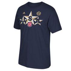US Hockey adidas 2016 World Cup of Hockey Triple Star T-Shirt - Navy - $21.99