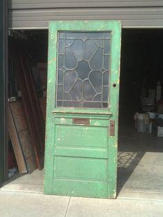 Vintage Large Wooden Door with Mail Letter Slot | eBay | Old ...