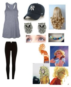 """""""I don't know. Maybe Annabeth maybe not. I'm just bored okay?"""" by oceanlover1928 ❤ liked on Polyvore featuring River Island, T By Alexander Wang and '47 Brand"""