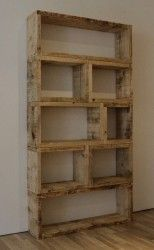 upcycled pallet wood shelving