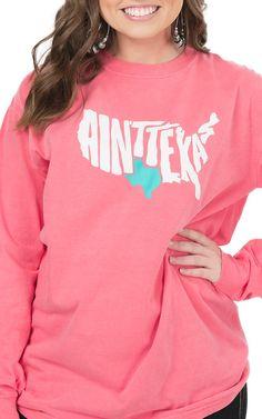 Texas Humor Women's Melon Ain't Texas Long Sleeve T-Shirt | Cavender's