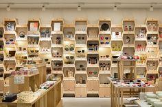 Tohoku standard: a beautiful gift shop designed by keiji ashizawa spoon &am Gift Shop Displays, Shop Window Displays, Store Displays, Shop House Plans, Shop Plans, Shop Interior Design, Exterior Design, Store Design, Visual Merchandising